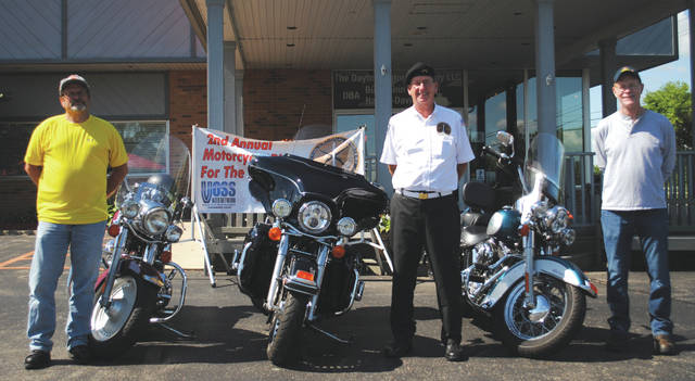 Whitney Vickers | Xenia Daily Gazette Pictured are Carl Auckerman, Bob Perry and Jeff Buercshen. Perry is helping organize the ride, while Auckerman and Buercshen participated in the ride last year.