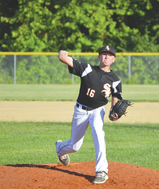 Drew Yeary pitched the complete-game win in the Beavercreek Sox' run-ruled 11-1 win, June 20 over the Lebanon Warriors in 14U Midwest Ohio Baseball League action.