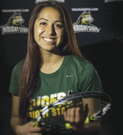 Vanessa Madrigal enrolled at Wright State to play on the tennis team and study biomedical engineering in the College of Engineering and Computer Science.