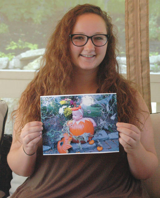 Scott Halasz | Xenia Daily Gazette Beavercreek resident Kaylee Berro was born addicted to eight narcotics. When she was younger, her adoptive parents put her in a pumpkin to try and encourage any type of brain stimulation they could.