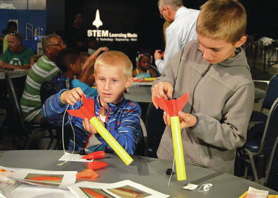 Submitted photo Explore space as the Air Force Museum staff commemorates the anniversaries of two special moon missions during Family Day July 15. The first 500 visitors will be able to participate in a free build and launch rocket workshop.