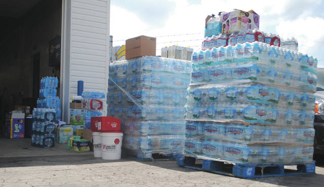 Whitney Vickers | Xenia Gazette Greene County citizens are donating to hurricane relief efforts.