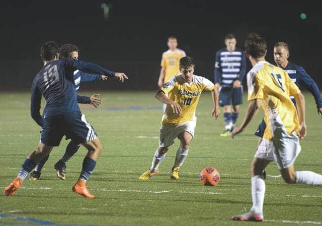 Cedarville midfielder John Schwein (10) is a returning National Christian College Athletic Association All-American, and was a first-team All-Great Midwest Athletic Conference selection as well. The Yellow Jackets were picked third in this week's 2017 G-MAC men's soccer poll.