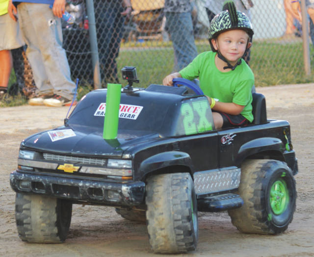 Barb Slone | Greene County News Even the kids had a big turnout as they had their own derby during the demolition derby night at the Fair.