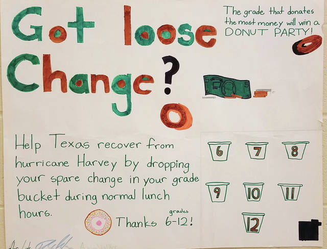 One of the posters created by the sixth grade.