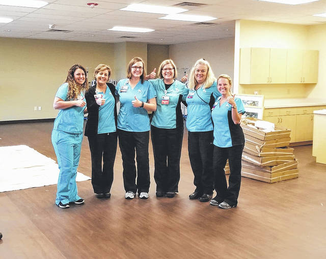 Submitted photo Kettering Cancer Care Center at Soin Medical Center will soon open the expanded infusion center. Nursing staff is getting ready to welcome patients.