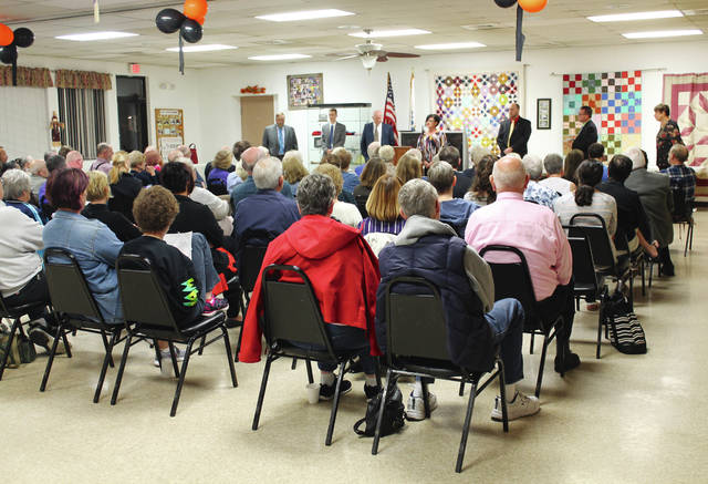 Anna Bolton   Xenia Daily Gazette Candidates for Xenia City Council each take one minute to answer an audience question at a Meet the Candidates event held Oct. 11 at Xenia Senior Center.