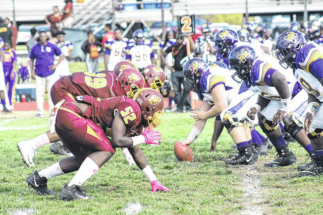 Submitted photo Central State Marauders surrendered 31 points in the fourth quarter in Saturday's 41-20 loss to the Golden Bears of Miles College Oct. 7.