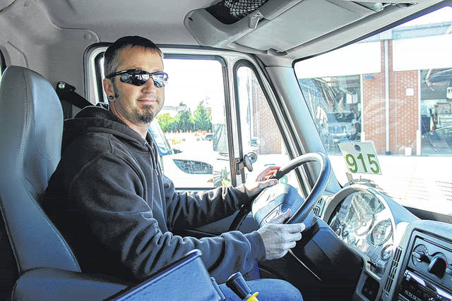 Naomi Harward | Xenia Gazette Snow plow operator Jason Clymer has been a part of the City of Beavercreek's street team for four years.