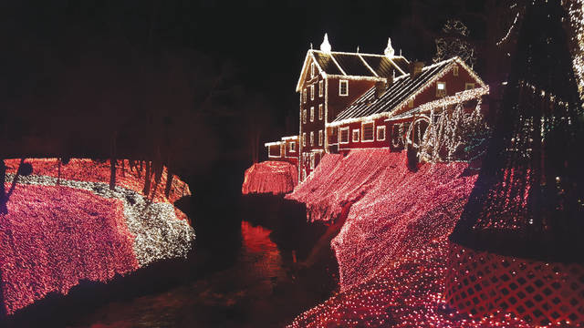 File photos Clifton Mill officials will flip the switch 6 p.m. Friday, Nov. 24 to illuminate millions of light bulbs to celebrate the holiday season.