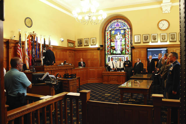 Anna Bolton   Greene County News A dedication ceremony was held for the new veterans' treatment court in Greene County Common Pleas Court Nov. 3. The specialized court gives a hands-on approach to helping veterans through the criminal justice system.
