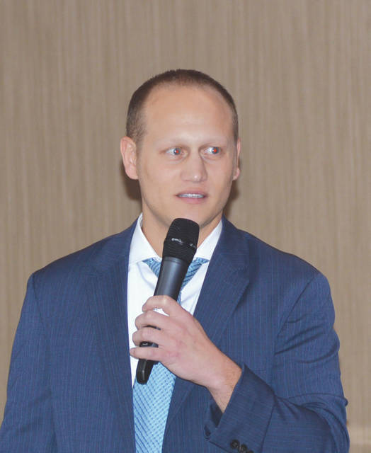 Three-time Ohio high school wrestling champion, two-time NCAA national finalist and college wrestling All-American Dr. Kyle Ott gave a seminar on wrestling injuries, Nov. 16 at the Soin Medical Center in Beavercreek.