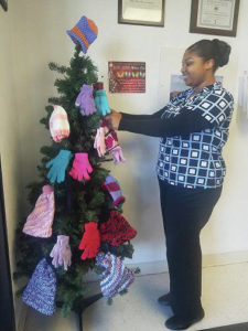 Mittens, gloves needed for tree