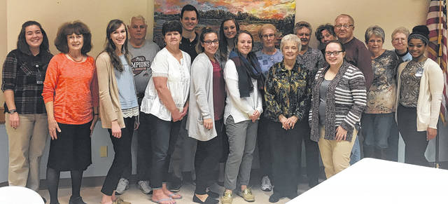 """Helping to """"decode dementia"""" were nursing clinical students from Cedarville University, seen here with employees and senior citizens at the Madison County Senior Center."""