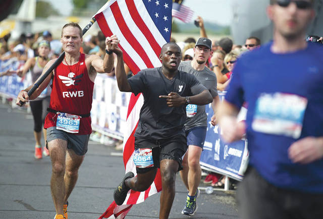 File photo A scene from the 2016 Air Force Marathon weekend at Wright-Patterson Air Force Base, Sept. 15-17. More than 15,000 runners, walkers and spectators from all 50 states and 17 foreign countries gathered to participate in the race's 20th year.