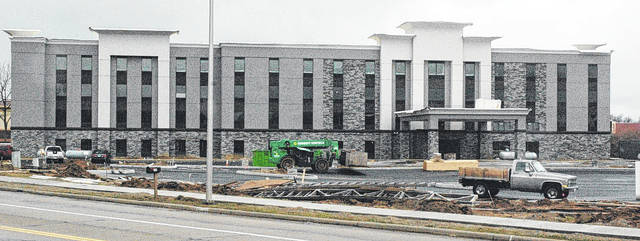 A Hampton Inn and Suites is scheduled to open sometime in March on Progress Drive.