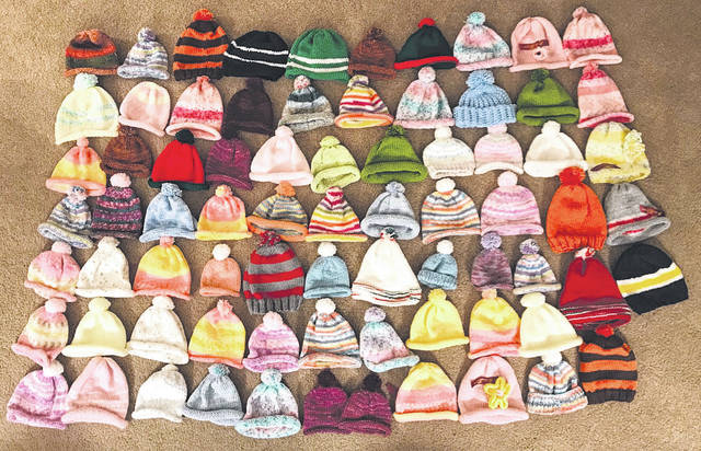 The group created preemie hats they provided to Soin Medical Center Maternity Center.