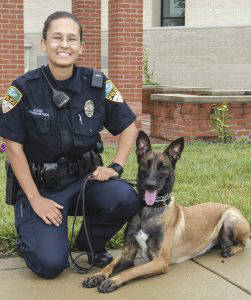 Officer Nelda Mattison will bring her K-9 officer, Jenkka, to the Jan. 17 Coffee and Donuts with the Chief event.