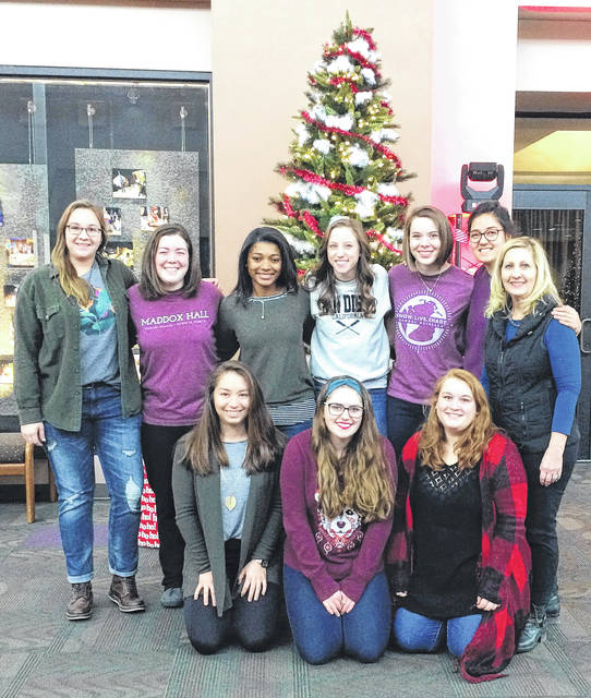 Submitted photo Cedarville nursing students took part in a new ministry for teen girls in Fayette County.