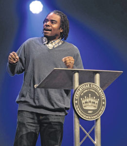 Rapper speaking at Cedarville University
