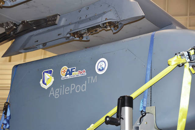 Submitted photo The use of Open Systems Architectures during manufacturing enables the Air Force Research Laboratory's AgilePod to integrate on diverse air platforms with short notice.