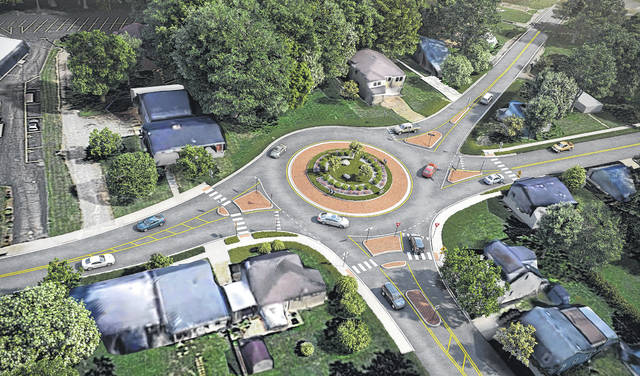 Submitted photo This is what the proposed roundabout would look like at the US 42/Church Street intersection.