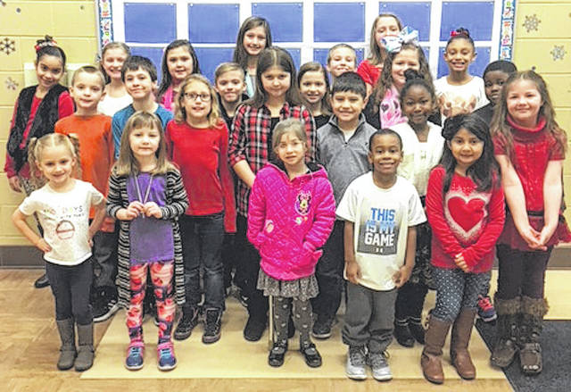Submitted photo Arrowood Elementary School announced its February all-stars. The students were selected by their teachers for showing their Buccaneer best behavior. Honored were: Kennedi Boude, Emanuel Hargrave, Bailey Brehm, and Kennedy Lyons (kindergarten); Jenna Fay Jarvis, Ariana Rubio, Alexa Porter, and Kaiya Gaines (first grade); Trynytie Anderson, Michael Berry, Wyatt Long, and Nicole Melvin (second grade); Omari Applin, Gracee Hayes, Lily McHaney, and Marcus King (third grade); Sophira Rains, Brooklyn Michaels, Dominic Jones, and Audrey Austin (fourth grade); and Amirah Anderson, Lizzie Craig, and William West (fifth grade).