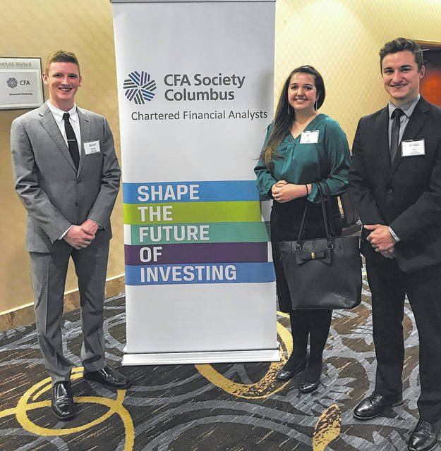 Submitted photo Timothy Flavin, Corinna Ward, and Kyle Nikerle particpated in the CFA competition in Columbus.