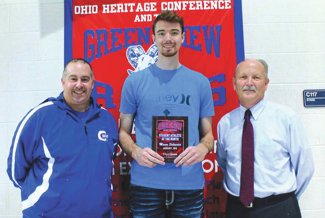 Mason Schneider was chosen as the Edward Jones Investments Athlete of the Month for January for Greeneview High School. This award is being sponsored by the office of Mike Reed at Edward Jones Investments of Xenia, serving Xenia, Jamestown, Cedarville and surrounding areas. Schneider, a senior on the Boys Basketball team averages 17 points, 12 rebounds and 4 blocks per game. He just recently scored his 1000th point for his career while playing just three years. Schneider's grade-point average is an impressive 3.8.