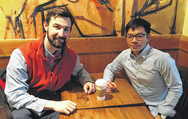 Submitted photo Michael Holbrook and Caleb Tang have teamed up to help fight the opioid crisis.