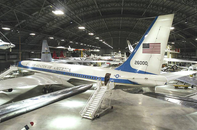 Submitted photo An overhead view of the Boeing VC-137C SAM 26000 (Air Force One) at the National Museum of the United States Air Force.