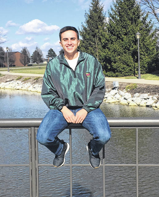 Submitted photo Cedarville ROTC student Andy Arreguin will donate stem cells to save a life at the end of March.
