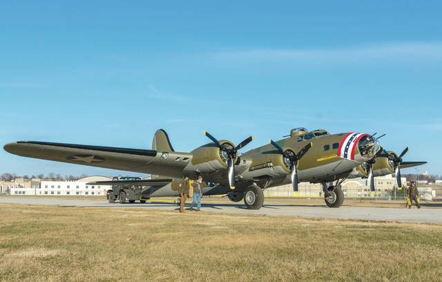 Don Tate | Greene County News The Memphis Belle was moved from the National Museum of the United States Air Force Restoration Hanger to its World War II Gallery in preperation for the aircraft's reveal to the public in May.