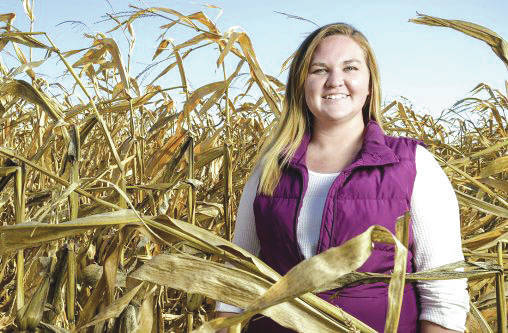 Submitted photo Wright State sophomore Olivia McDade one of many students in Lake Campus' growing agriculture program.