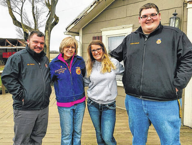 Submitted photos Xenia FFA members at the Ankeney farm.