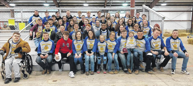Submitted photos Members of the Xenia FFA who participated in fifth grade Ag Day.