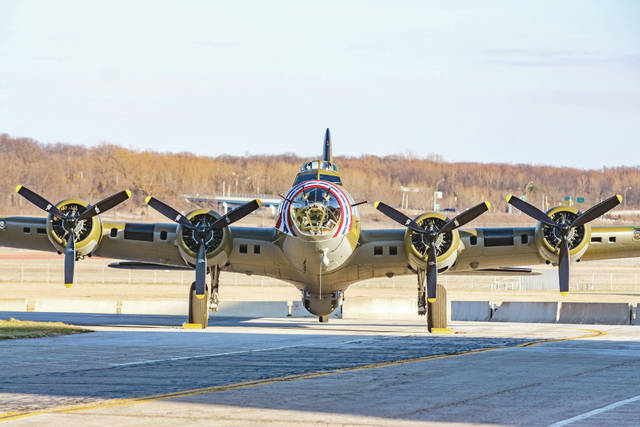 """File photo The Memphis Belle is slated to open to the public during a special three-day ceremony slated for May 17-19 at the National Museum of the United States Air Force. To gear up for the event, the museum is hosting """"Memphis Belle - Dispelling the Myths,"""" Wednesday, April 18 and Thursday, April 19."""