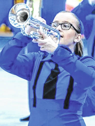 Submitted photos Beavercreek sophomore Emma Avery was one of the youngest members of the Inertia Independent Winds, a Dayton-based elite indoor music ensemble.