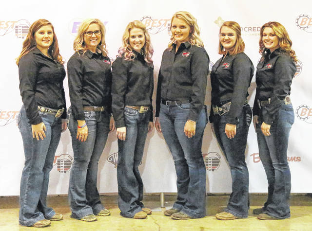 Submitted photo BEST Junior Representatives pictured from left are Sarah Harner, Greene County; Karigan Blue (2016-2018, retiring), Henry County; Hannah Ziegler, Wyandot County; Haley Frazier, Jackson County; Madison King, Logan County; and Brooke Egbert, Auglaize County.