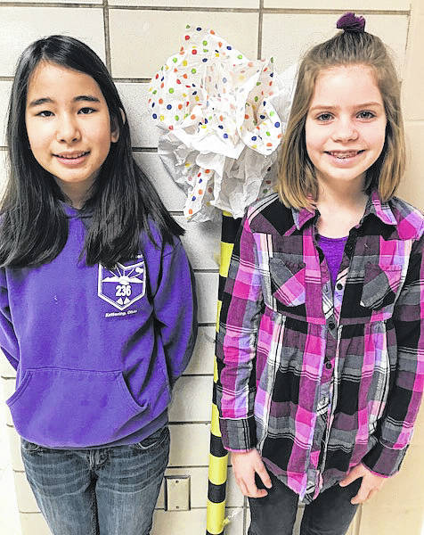 Fifth graders Rya Crocker and Molly Janus were among the youngest at the state science day.