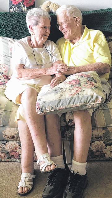 Scott Halasz | Greene County News Xenia residents Donald and Sadie Necina met in England during World War II, became engaged and then had to wait a year to get married. They will celebrate 71 years of marriage Saturday, June 9.