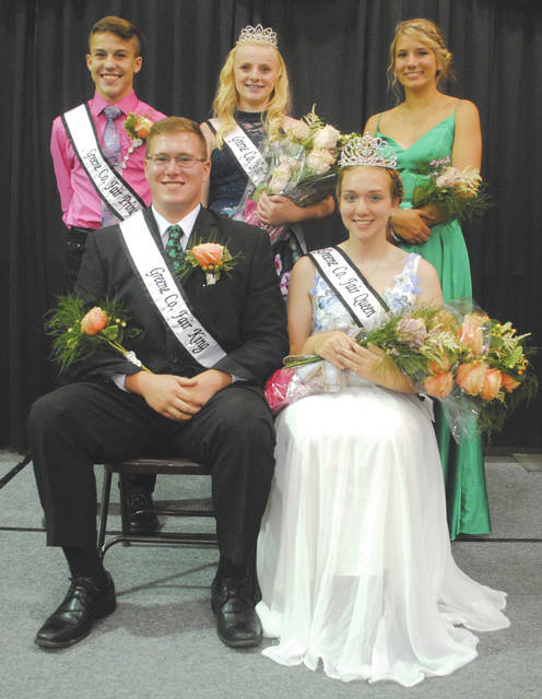 Whitney Vickers | Greene County News The 2018 Fair Royalty court includes (from top left to right) Prince Gunnar Gannon, Princess Frankie Travis, Queen Runner-up Grace Smith and (from bottom left to right) King Nicolas Shaw and Queen Janine Stover.
