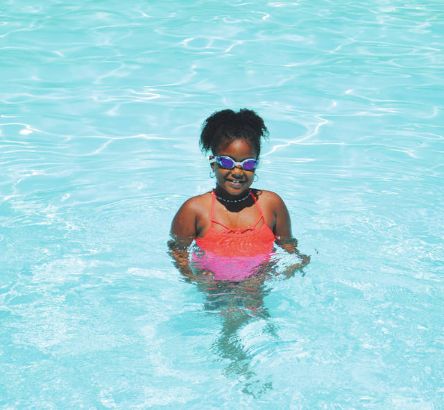 Whitney Vickers   Greene County News Gaunt Park Pool, located at 500 W. S. College Street in Yellow Springs, was bustling with activity July 12 as many locals cooled off and made a splash.