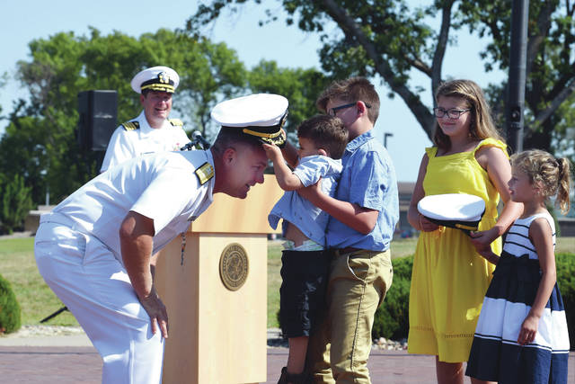 Submitted photo U.S. Navy Rear Adm. John D. Spencer, a Fairborn native, was promoted Aug. 9 to the rank of rear admiral. He has also been assigned as the director of Nuclear Support Directorate, Defense Threat Reduction Agency at Ft. Belvoir, Va.