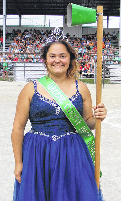Submitted photos Audrey Renner was crowned and belled as the 2018-19 Beef Queen.