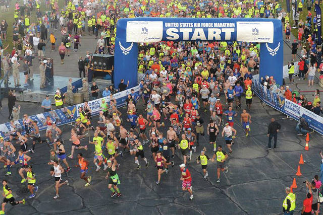File photo The Air Force Marathon is slated for Friday, Sept. 14 through Saturday, Sept. 15.