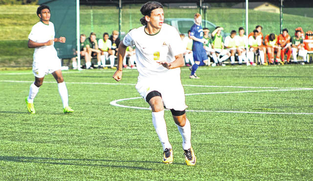 Wright State University's Stefan Rokvic (9) scored two goals in the Raiders' 3-2 win Aug. 27 over host Purdue University Fort Wayne.